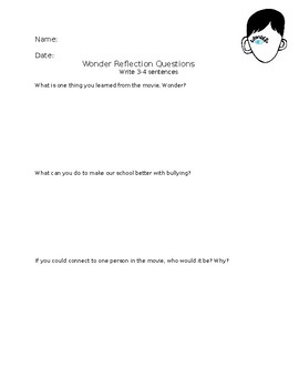 Wonder Movie Reflection Questions