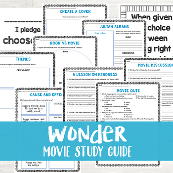 Wonder Movie Study Guide