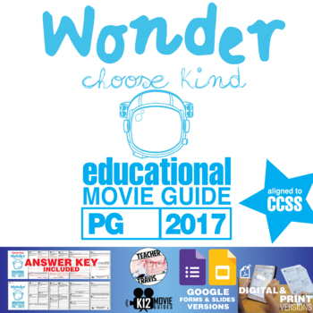 Wonder Movie Guide | Film Questions | Worksheet (PG - 2017)