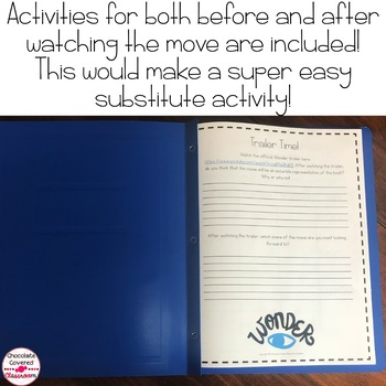 Wonder Movie and Book Comparison Activities for 21 Century Learners
