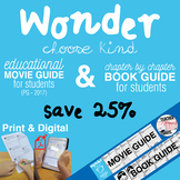 Wonder Movie and Book Study Guide - Bundled Resource - 25%