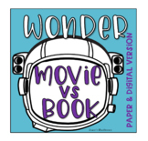 Wonder Movie vs Book Comparison (Printable & Digtial Google Slide versions)