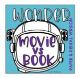 Wonder Movie vs Book Comparison (Printable & Digtial Googl