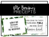 Wonder - Mr Browne's Precepts (Tropical Theme)