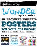 Wonder Mr. Browne's Precepts Posters