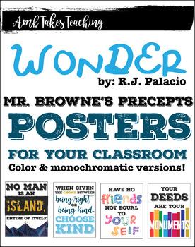 Wonder Mr. Browne's Precepts Posters