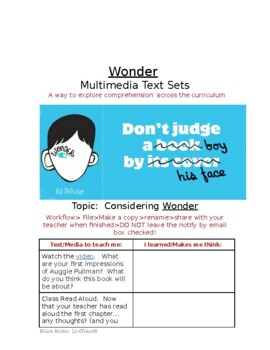 Wonder Multimedia Text Set Freebie