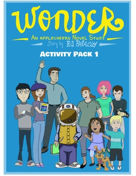 Wonder Novel Activity Packet (12 Writing Tasks, Character Trait Trading Cards)
