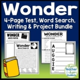 Wonder Novel Bundle: Final Book Test and Book Report Project {25% Off Savings}