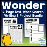 Wonder Bundle: Final Test, Book Report Project, Word Search & Writing {30% Off}
