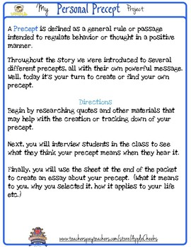 Wonder Novel Free Project: The Personal Precept Project R.J. Palacio
