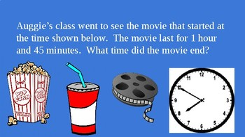 Wonder Novel Movie and Math Elapsed Time Word Problems