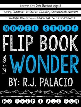 Wonder Novel Study Flip Book