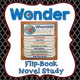 Wonder, Novel Study, Flip Book Project, Writing Prompts, Vocabulary, Activities