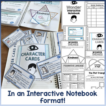 Wonder Novel Study Distance Learning Interactive Notebook | R.J. Palacio