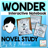 Wonder Novel Study Distance Learning Interactive Notebook