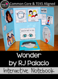 Wonder Interactive Novel Study: For Interactive Notebook o