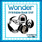 Wonder Novel Study [Palacio]: vocabulary, comprehension, writing, skills