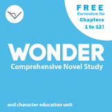 SL Free Wonder Novel Study for Chapters 1-12 -  Book & Cha