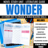 Wonder Foldable Novel Study Unit