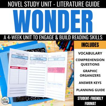 Wonder Foldable Novel Study Unit