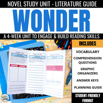 Wonder Novel Study Unit
