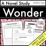 Wonder Novel Study Unit Distance Learning