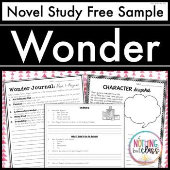 Wonder Novel Study Unit: FREE Sample