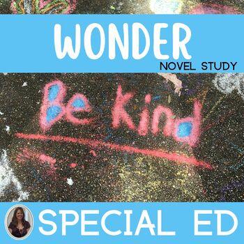 Wonder Novel Study for Special Education
