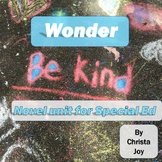 Wonder Novel Study for Special Education with comprehensio