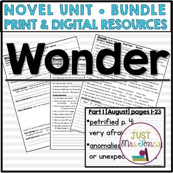 Wonder Novel Unit