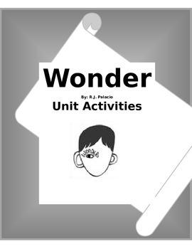 Wonder Novel Unit Plans