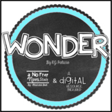 Wonder RJ Palacio Novel Study -Questions, Vocab, Response Activities, & More!