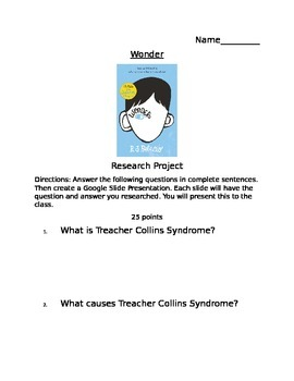 Wonder Online Research Project
