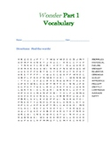 Wonder Part 1 Vocabulary Word Search
