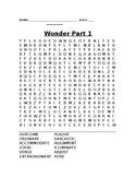 Wonder Part 1 Word Search