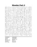 Wonder Part 3 Word Search