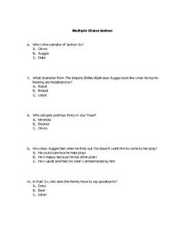 Wonder Part Six Quiz