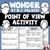 Wonder Novel Study Point of View Novel Study Activity