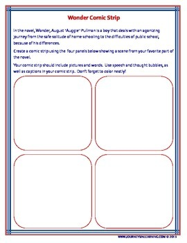 Wonder Poster and Comic Strip Activities
