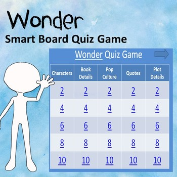 Wonder Power Point Quiz Game (Great for Smart Boards)