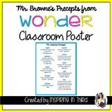 Wonder Precepts Taught by Mr. Browne