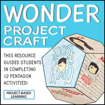 Wonder Novel Study Project Craft - PBL