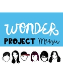 Wonder Project Menu with Rubrics