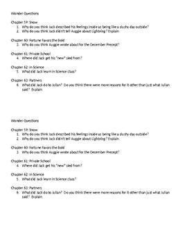 Wonder Questions 59-63