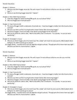 Wonder Questions ch. 1-4