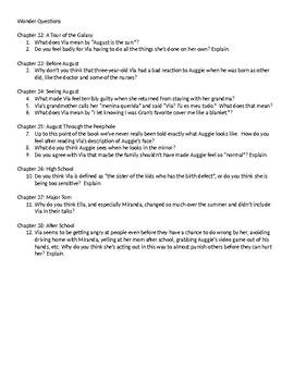 Wonder Questions ch. 32-38