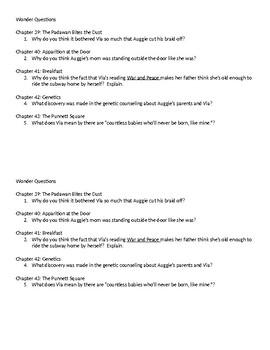 Wonder Questions ch. 39-43
