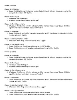 Wonder Questions ch. 48-53