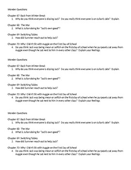 Wonder Questions ch. 67-70